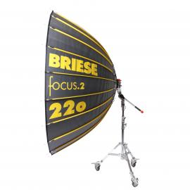 Briese kit parapluie Focus 220 Flash avec torche