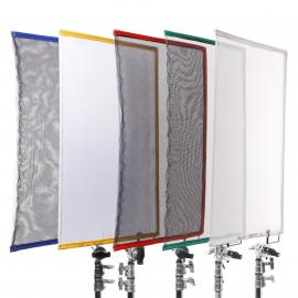"Scrim Flag 18x24"" 1/4 Artificial Silk (white)  (45x60cm)"