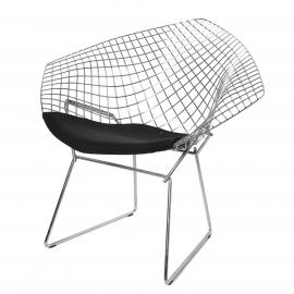 "Chair ""Knoll Agata"" silver"