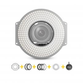 LED Ringlight Bi-color with Lens Adapter Rings