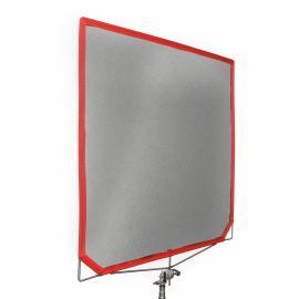"""Scrim Flag 48x48"""" 2x Scrim Black (red)  (120x120cm)"""