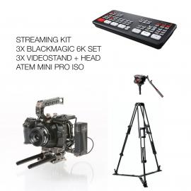 Streaming Kit Blackmagic6K+Atem+Tripods