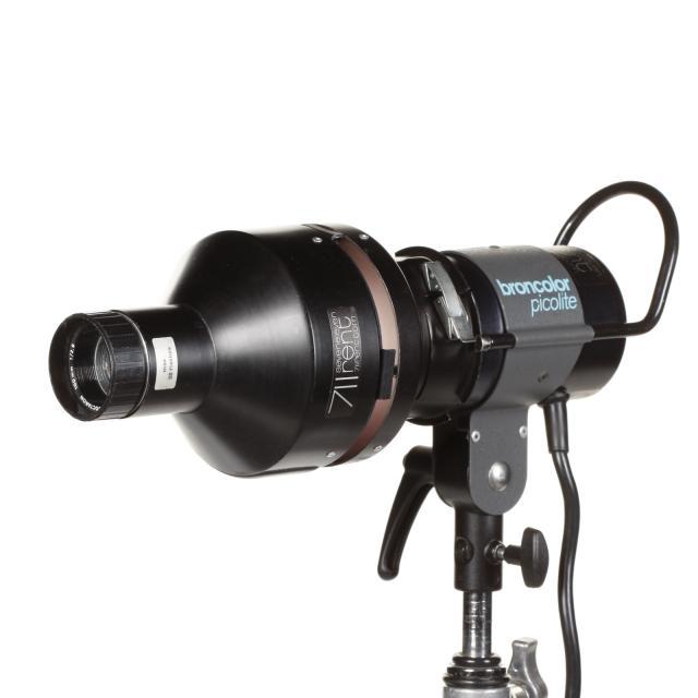 Broncolor Picolite Obj.100mm projection avec nez optique et accessoires
