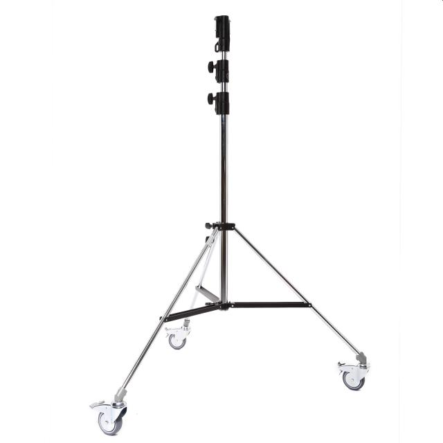 Pied U126 Manfrotto double tige à roulettes / Lampstand on wheels