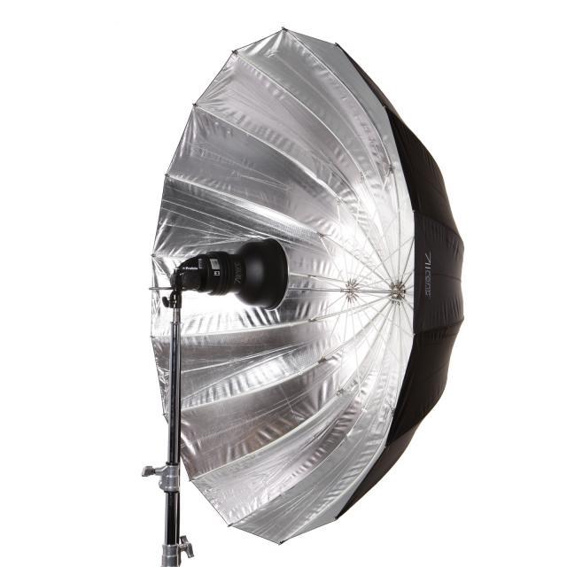 Paraguas M 110cm plateado