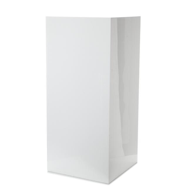 Cube plexi blanc 41x91x41cm