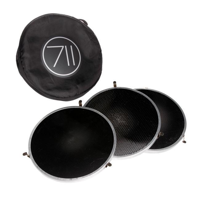Broncolor kit nid d´abeille pour P70 (3 pièces, 10°, 20°, 30°) / Gridset