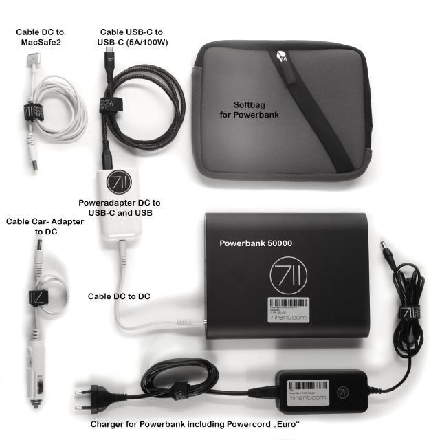 Powerbank Big 50000 (USB-C + Macsafe2)