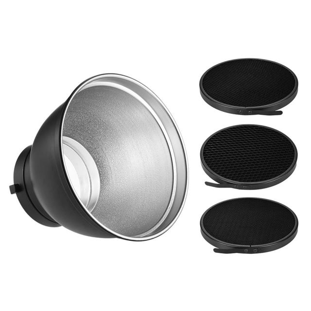 """Aputure Bowens Reflector 7"""" for Grids incl. 20 ° 40 ° 60 ° Grid"""