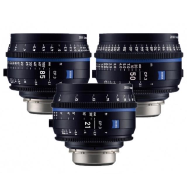 Zeiss CP.3 Set of 3 lenses  PL mount