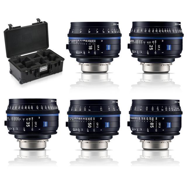 Zeiss CP.3 Set of 5 lenses  EF mount